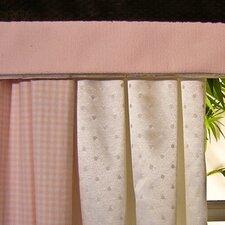 Pink Chocolate Cotton Tab Top Ruffled Curtain Valance