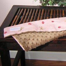 Pink Ladybugs and Dragonflies Minky Binky Blanket