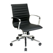 Mid Back Eco Leather Conference Chair