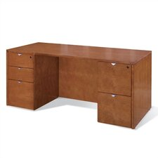 "<strong>OSP Furniture</strong> Kenwood 66"" W Executive Desk Shell with Straight Front"