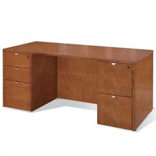 "<strong>OSP Furniture</strong> Kenwood 72"" W Double Pedestal Executive Desk"