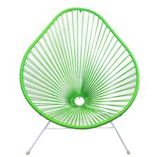 Authentic Acapulco Indoor / Outdoor Chair with White Frame in Avocado Green