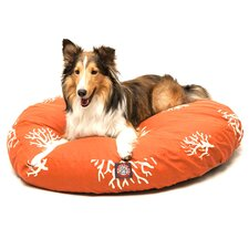 Coral Round Dog Pillow