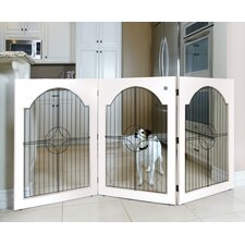 Universal Free-Standing Wood and Wire Pet Gate