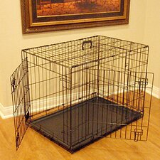 <strong>Majestic Pet Products</strong> Double Door Folding Pet Crate