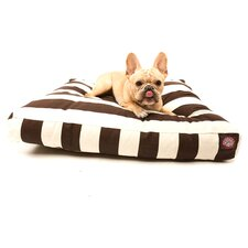 Vertical Stripe Rectangular Pet Bed