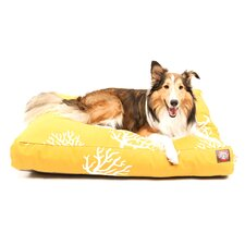 Coral Rectangle Dog Pillow
