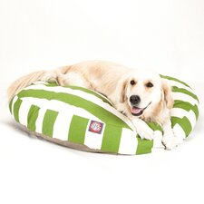 Vertical Strip Round Dog Pillow