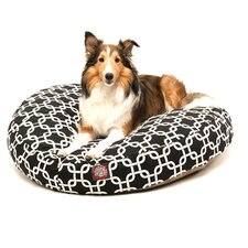 Links Round Dog Pillow