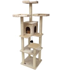 "80"" Casita Fur Cat Tree"
