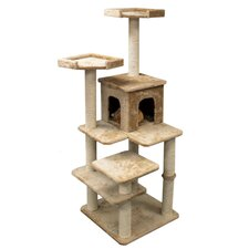 "<strong>Majestic Pet Products</strong> 66"" Casita Fur Cat Tree"