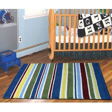 Curious Owl Primary Stripes Kid's Rug