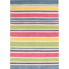 Curious Owl Gelato Striped Kid's Rug
