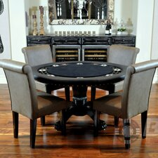 Nighthawk 5 Piece Poker Dining Table Set with Lounge Chairs (Set of 5)