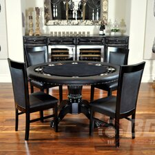 Nighthawk 6 Piece Poker Dining Table Set with Dining Chairs