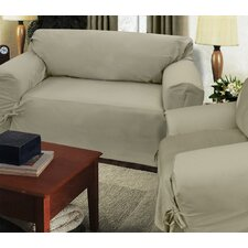 Loosefit Sofa Skirted Slipcover