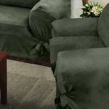 <strong>Melrose Home</strong> Villa Suede Loosefit Chair Slipcover
