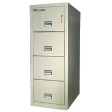 """20.6"""" W x 31.5"""" D 4-Drawer Fireproof Key Lock Letter File Safe"""