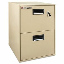 1 Hr Fireproof Key Lock 2 Drawer File Safe