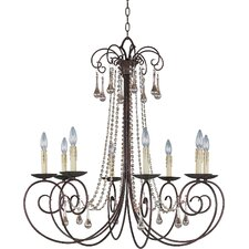 Adriana 8 Light Candle Chandelier