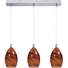 Minx 3 Light Linear Pendant
