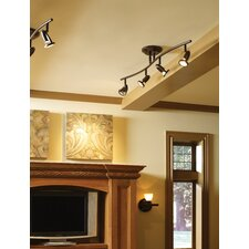 Agron 4 Light Linear Semi Flush Mount