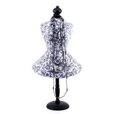Mango Wood Base Decoupage Papier-mâché Mannequin Jewellery Holder