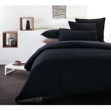 Illona Waffle Quilt Cover Set in Black