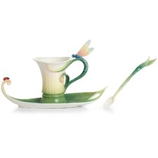 Peace and Harmony Bamboo Cup, Saucer and Spoon Set