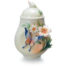 Fluttering Beauty Flower and Butterfly Sugar Jar
