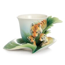 Safari Jungle Beauties Tiger and Baby Cup and Saucer Set