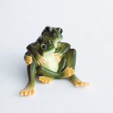 Amphibia Frog Mother and Daughter Figurine