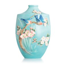 Bluebird on Apple Tree Large Vase