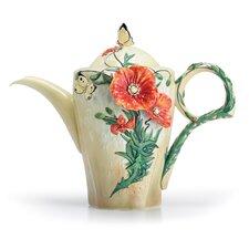 Van Gogh Poppy Flower Teapot