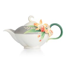 Magnificent Cattleya Orchid Teapot