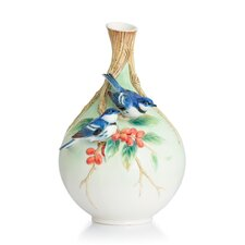 Cerulean Warblers on Coffee Tree Medium Vase