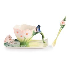 Butterfly Cup, Saucer and Spoon Set