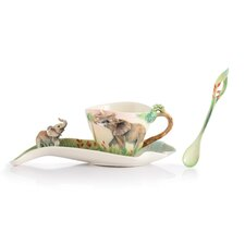 <strong>Franz Collection</strong> Family Fun Elephant Cup, Saucer and Spoon Set