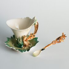 Endless Beauty Giraffe Cup, Saucer and Spoon Set
