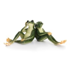 Amphibia Frog Father and Son Figurine