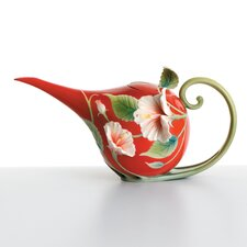 Island Beauty Hibiscus Flower Teapot
