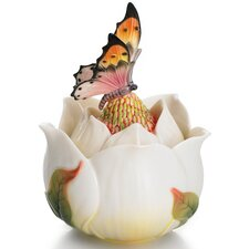 <strong>Franz Collection</strong> Floral Blossom Magnolia Flower Ornamental Lidded Box