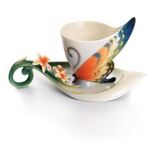 Tiger Swallowtail Butterfly Cup and Saucer Set