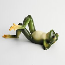 Amphibia Frog Lying on Back Figurine