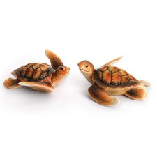 2 Piece Sea Turtle Figurine