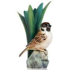 <strong>Franz Collection</strong> Tree Sparrow Bird Vase