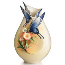 Fluttering Beauty Flower and Butterfly Vase