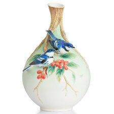 Cerulean Warblers Vase