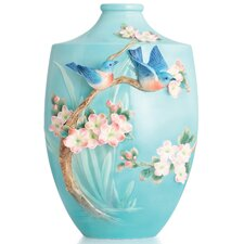 Bluebird on Apple Tree Vase