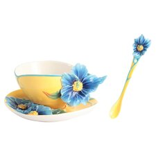 Strength and Will Poppy Cup, Saucer and Spoon Set